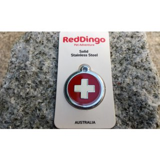 RedDingo Hundemarke Swiss Cross -M-